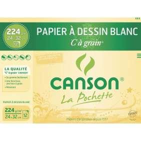 DESSIN C A GRAIN 24x32. 224G BLANC