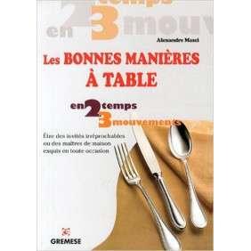 LES BONNES MANIERES A TABLE ETRE DES INVITES IRREPROCHABLE OU DES MAITRES DE MAI