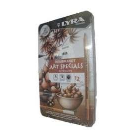 CRAYON LYRA REMBRANDT ART SPECIAL ETUI 12 BOITE METAL