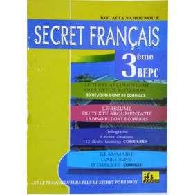 SECRET FRANCAIS 3 EME - RESUMES + EXOS CORRIGES