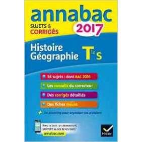 ANNALES ANNABAC 2017 HIST-GEO TLE S