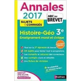 ANNALES BREVET 2017 HISTOIRE GEOGRAPHIE - EMC
