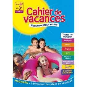 CAHIER DE VACANCES DE LA 4E à LA 3E, 13-14 ANS