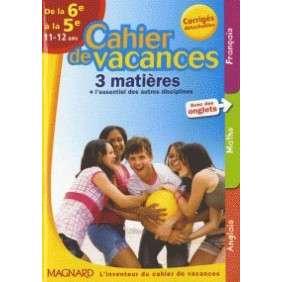 CAHIER DE VACANCES COLLEGE 6E 5E