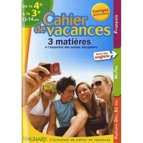 CAHIER DE VACANCES COLLEGE 4E 3E