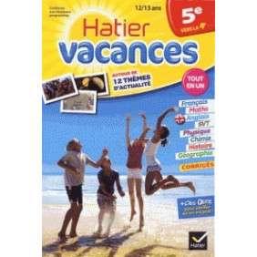 CAHIER DE VACANCES DE LA 5E VERS LA 4E - HATIER VACANCES