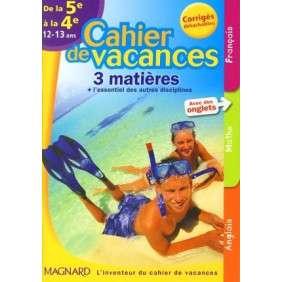 CAHIER DE VACANCES COLLEGE 5E 4E