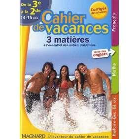 CAHIER DE VACANCES COLLEGE 3E 2E