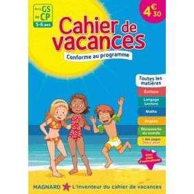 CAHIER DE VACANCES DE LA GS AU CP, 5-6 ANS