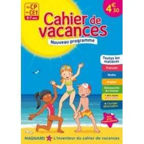 CAHIER DE VACANCES DU CP AU CE1, 6-7 ANS