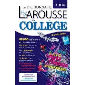 DICTIONNAIRE LAROUSSE DU COLLEGE ED 2018