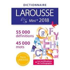 DICTIONNAIRE FRANCAIS MINI PLUS 2018