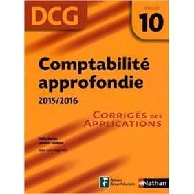 COMPTABILITE APPROFONDIE 2015/2016 EPREUVE 10 DCG