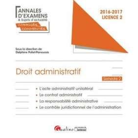 ANNALES ET SUJETS D'ACTUALITE CORRIGES 2017 - DROIT ADMINISTRATIF - L2-S2
