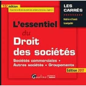 L'ESSENTIEL DU DROIT DES SOCIETES - 15EME EDITION