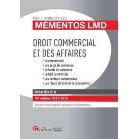 DROIT COMMERCIAL ET DES AFFAIRES 2017-2018, 10EME EDITION