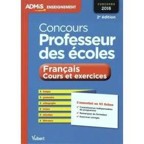 CONCOURS PROFESSEUR  DES ECOLES FRANCAISES ET COURS EXERCICES