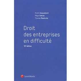 DROIT DES ENTREPRISES EN DIFFICULTE