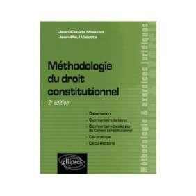 METHODOLOGIE DU DROIT CONSTITUTIONNEL 2E EDITION