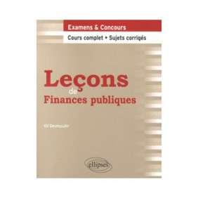 LECONS DROIT LECONS DE FINANCES PUBLIQUES