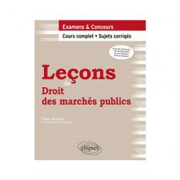 LECONS DE DROIT DES MARCHES PUBLICS