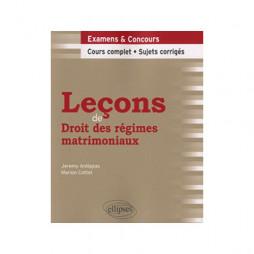LEçONS DE DROIT DES RéGIMES MATRIMONIAUX