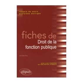 FICHES DE DROIT DE LA FONCTION PUBLIQUE