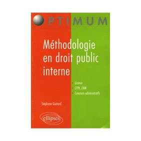 METHODOLOGIE EN DROIT PUBLIC INTERNE