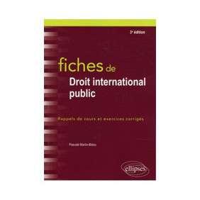 FICHES DE DROIT INTERNATIONAL PUBLIC
