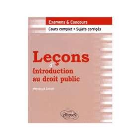LECONS D'INTRODUCTION AU DROIT PUBLIC