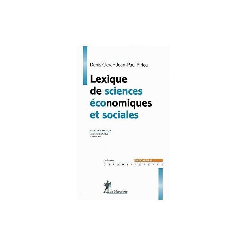 LEXIQUE DE SCIENCES ECONOMIQUES ET SOCIALES