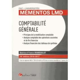 MEMENTOS LMD - COMPTABILITE GENERALE 2016-2017, 16EME ED.