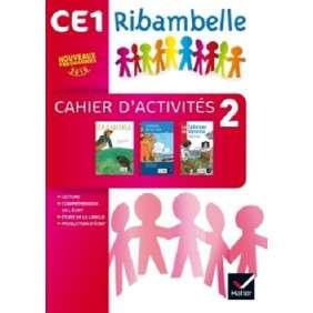 RIBAMBELLE CE1 SERIE ROUGE ED. 2016 - CAHIER D'ACTIVITES 2 PAS VENDU SEUL