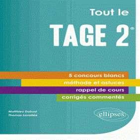 TOUT LE TAGE 2 5 CONCOURS BLANCS METHODE ET ASTUCES