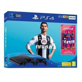 BUNDLES PS4 500GO + FIFA 19 + 2 MANETTES