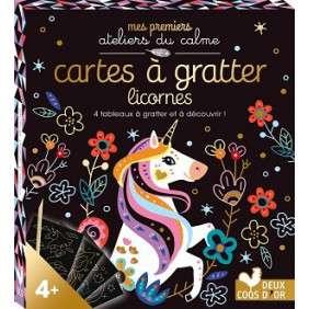 CARTES A GRATTER LICORNES - 4 TABLEAUX A GRATTER A DECOUVRIR !
