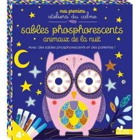 SABLES PHOSPHORESCENTS ET PAILLETTES - ANIMAUX DE LA NUIT