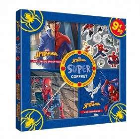SUPER COFFRET SPIDER-MAN - AVEC UNE HISTOIRE, DES STICKERS, UN PUZZLE, DES COLORIAGES