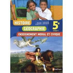 HISTOIRE GEOGRAPHIE ENSEIGNEMENT MORAL ET CIVIQUE 5E 2016