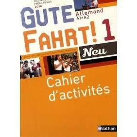 GUTE FAHRT NEU 1 2016 - CAHIER D'ACTIVITES
