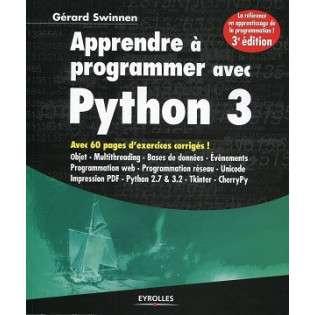 APPRENDRE A PROGRAMMER AVEC PYTHON 3