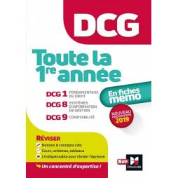 DCG : TOUTE LA 1ERE ANNEE DU DCG 1, 8, 9 EN FICHES - REVISION