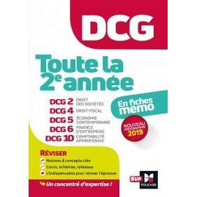 DCG : TOUTE LA 2E ANNEE DU DCG 2, 4, 5, 6, 10 EN FICHES - REVISION