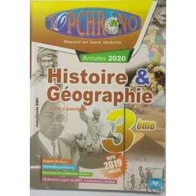 TOP CHRONO HISTOIRE GEOGRAPHIE 3 EME ED 2020