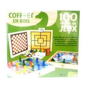 COFFRET BOIS 100 JEUX