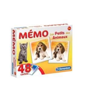 MEMO POCKET LES PETITS DES ANIMAUX - 3 ANS