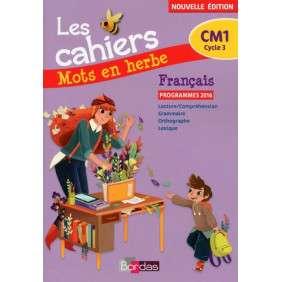 MOTS EN HERBE FRANCAIS CM1 2017 - LES CAHIERS