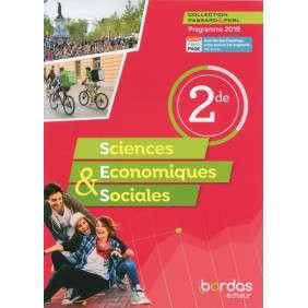 SCIENCES ECONOMIQUES & SOCIALES 2DE 2019 MANUEL - PASSARD & PERL