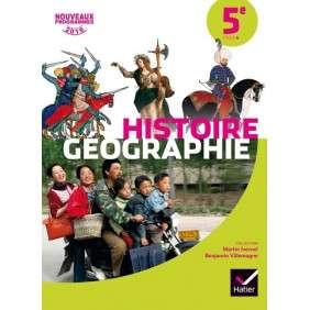 HISTOIRE,GEOGRAPHIE 5EME ED. 2016 , MANUEL DE L'ELEVE