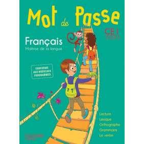 MOT DE PASSE FRANCAIS CE1 - LIVRE ELEVE - ED. 2016